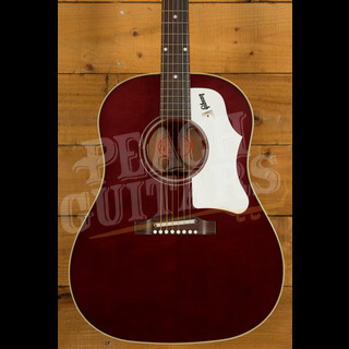 Gibson 60s J-45 Original, Adj Saddle (no pickup) Wine Red