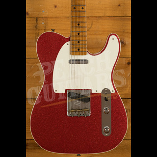 Fender Custom Shop '52 Tele Relic Roasted Maple Neck Red Sparkle