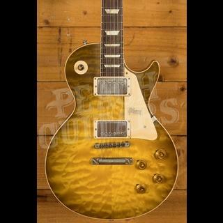 Gibson Custom 60th Anniversary '59 Les Paul Green Lemon Fade Peach Guitars M2M