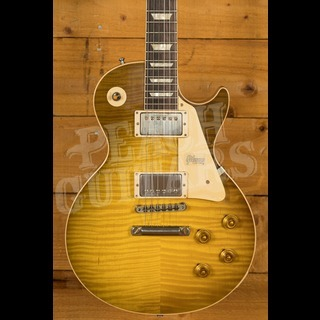 Gibson Custom 60th Anniversary '59 Les Paul Green Lemon Fade Peach Guitars M2M