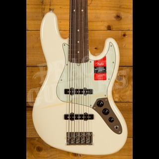 Fender American Pro Jazz V Bass Olympic White Rosewood Board