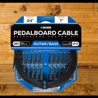 Boss Pedalboard Cable Kit 24ft 24 Connectors