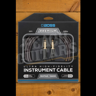 Boss PREMIUM INSTRUMENT CABLE, 18 FOOT WITH 2 STRAIGHT JACKS