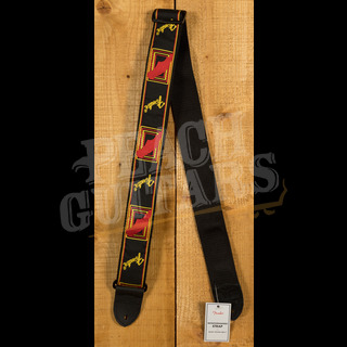 Fender Mono Strap - Black, Yellow & Red