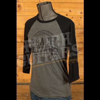 Peach Guitars 3/4 Baseball Shirt - Deep Heather/Black