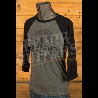 Peach Guitars 3/4 Baseball Shirt - Deep Heather/Black