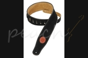 Levy's Suede Leather guitar strap - Black MSS3-BLK