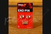 D'Addario Ellipitcal End Pin - Gold