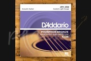 D'addario - 11-52 Custom Light Phosphor Bronze 3-pack