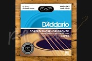 D'addario - 10-47 Light Coated Acoustic Strings 12-String