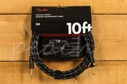 Fender Deluxe 10ft Angle/Straight Instrument Cable Black Tweed