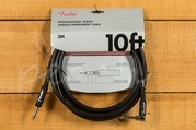 """Fender Pro 10""""Angle/Straigtht Instrument Cable Black"""