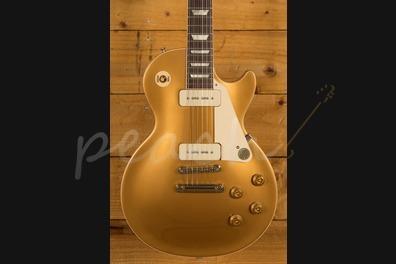 Gibson 2019 Les Paul Std P90 - Gold Top - Peach Guitars