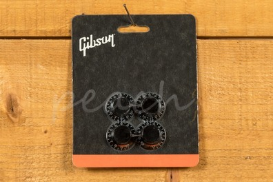 Gibson Top Hat Knobs Black - Pack of 4