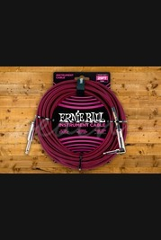 Ernie Ball Braided Instrument Cable 25ft - Black/Red