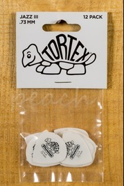 Jim Dunlop Tortex White Jazz III 12 Pack