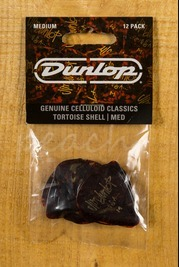 Jim Dunlop Tortoise Shell 12 Pack Celluloid