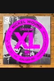 EXL120-3D 3 Pack Electric Guitar XL Super Lite