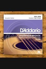 D'addario - 11-52 Custom Light Phosphor Bronze 3-pack