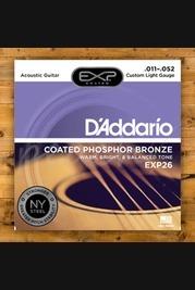 D'addario - 11-52 Custom Light Coated Acoustic Strings