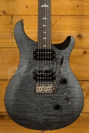 PRS SE Custom 24 Quilt Satin Ltd Grey Black
