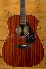 Yamaha FG850 Acoustic Solid Mahogany Top Back & Sides Natural