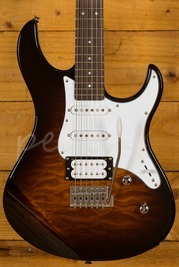 Yamaha Pacifica 212V Rosewood Neck Qulited Maple Body Tobacco Sunburst