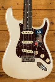 Fender American Elite Strat Streaked Ebony Olympic Pearl *B Stock*
