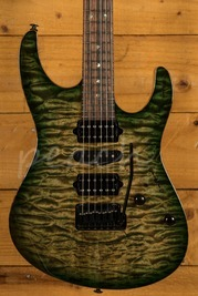 Suhr Custom Modern - Faded Trans Green Burst