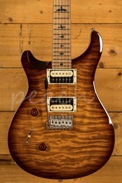 PRS SE Custom 24 Quilt Tobacco Sunburst Torrified Maple Left Handed
