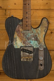 Patrick James Eggle Oz Black Grained Swamp Ash - Roasted Flame Maple