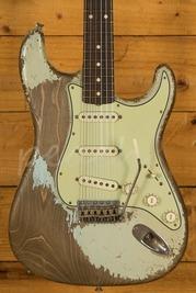 Fender Custom Shop Dale Wilson Masterbuilt 61 Strat Ultra Relic Sonic Blue