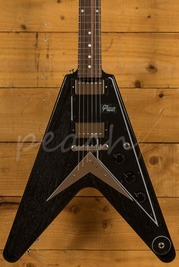 Gibson Custom '59 Flying V Mahogany TV Black Silver