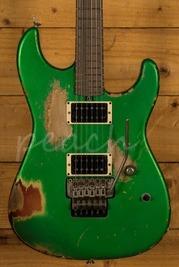 Friedman Cali Guitar Candy Green over 3 Tone Sunburst