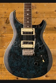 PRS SE CUSTOM 24 EXOTIC TOP - Poplar Burl Whale Blue