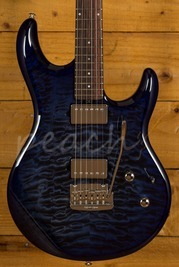 Music Man Luke III HH BFR Blueberry Burst Quilt Roasted RW