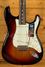 Fender American Elite Strat 3 Tone Sunburst Streaked Ebony