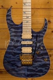 Ibanez J Custom 5A Quilted Maple Bluish-Purple Hauyne