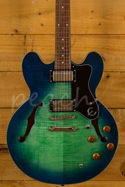 Epiphone Dot Deluxe Limited Edition Flame Top Aquamarine