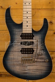 Suhr Modern Pro Faded Trans Whale Blue Burst Maple 510 HSH