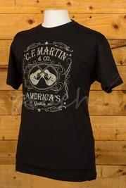 C F Martin Clothing T Shirt Dual Guitar Black