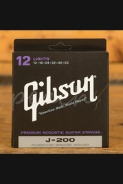 Gibson J-200 Acoustic Strings, Phosphor Bronze (Lights)