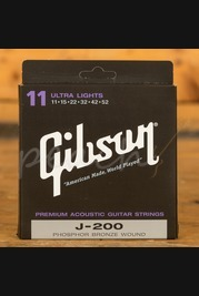 Gibson J-200 Acoustic Strings, Phosphor Bronze (Ultra Lights)
