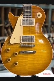 Gibson Custom 60th Anniv 59 Les Paul Golden Poppy Burst Left Hand VOS