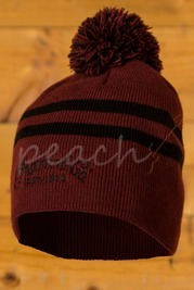C F Martin Clothing - Beanie - Red w Black Stripe