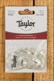 Taylor Celluloid 351 Picks White Pearl 1.21