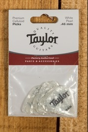Taylor Celluloid 351 Picks White Pearl 0.46