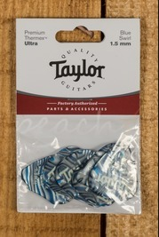 Taylor Premium 351 Thermex Ultra Picks Blue Swirl 1.5