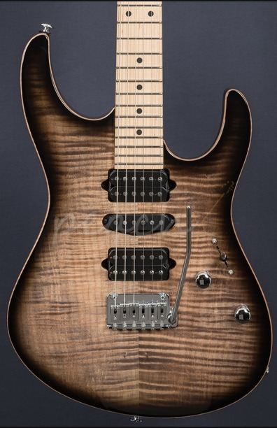 Suhr Modern Pro Trans Charcoal Burst Maple 510 HSH