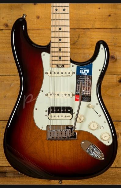 Fender American Elite Strat HSS Shawbucker Maple Neck 3 Tone Sunburst